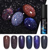 LILYCUTE 5ml Midnight Starry UV Gel Nagellack Glitzernd Tränken Sie Gel Varnish