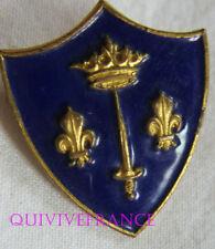 IN9761 - INSIGNE JEANNE d'ARC, Croiseur, écu bleu, émail