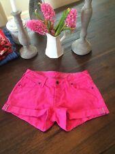 Womens Pink Jack Wills Denim Cuffed Shorts Jean Size 25