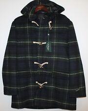 Polo Ralph Lauren Mens Green Black Tartan Plaid Wool Overcoat Jacket NWT XXL 2XL
