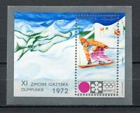 36086) Poland 1972 MNH Olympic Games, Sapporo S/S