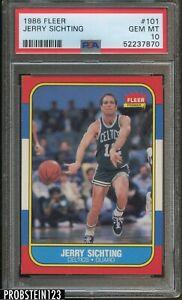 1986 Fleer Basketball #101 Jerry Sichting Boston Celtics PSA 10 GEM MINT
