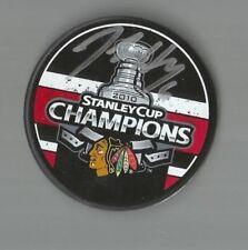 2010 Blackhawks Stanley Cup Champion Jordan Hendry Signed/Autographed Puck