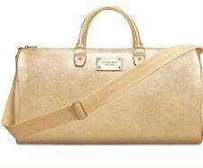 Micheal Kors Gold Tote Duffle Bag Travel Shopper Bag New 100% Authanic