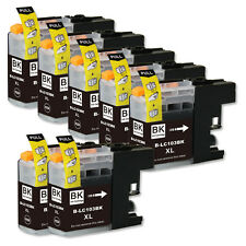 7 BLACK Replacement Ink for Brother LC103 LC101 MFC J245 J285DW J470DW J475DW