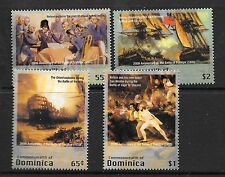 dominica ca 2005 bataille Trafalgar battle amiral Nelson boat Orient 4v mnh **