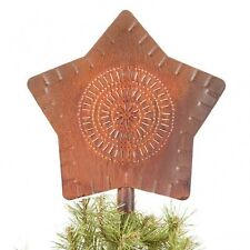 Large Star Christmas Tree topper in Rusty Tin