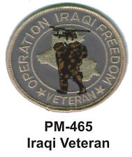 """3""""  IRAQI VETERAN Embroidered Military Patch"""