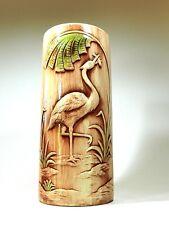 Vintage Porcelain Umbrella Stand Holder Bird