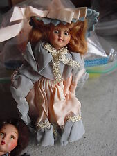 """Vintage 1950s Plastic Princess Girl in Outfit Character Doll 5 3/4"""" Tall"""