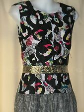 NEW Rachel Rachel Roy Gray silver black Sequins Cocktail Dress 6 S Small