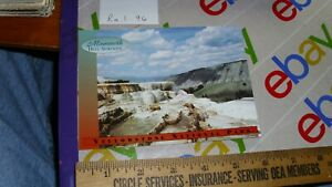 Cleopatra Terrace Mammoth Hot Springs Yellowstone National Park Postcard Beauty