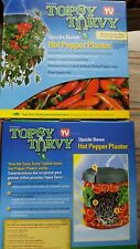 Two of The Topsy Turvy Upside Down Hot Pepper Planter As Seen On Tv New In Box,