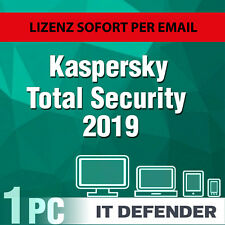 Kaspersky Total Security 2019 / 2020 1 PC / Geräte 1 Jahr Vollversion Key