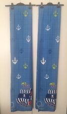 """Next Pirate Ahoy BlackOut Pencil Pleat Curtains 117(W)x137(L)cm 46"""" 54"""