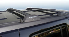 Hummer H3 and H3T Black Roof Rack Cross Bars w/ Chrome Letters