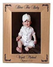 Custom Baby Picture Frame Personalized 5 x 7 Vertical Engraved Free