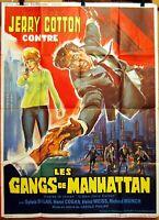 Plakat Cinema 1966 Jerry Cotton Gegen Les Orang Manhattan George Nader