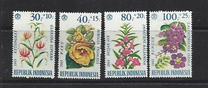 INDONESIA - B191 - B202 - MNH - 1965-1966 ISSUES - FLOWERS