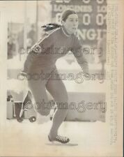 1973 Olympic Speed Skater Sheila Young Press Photo