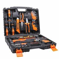 Tacklife 68Piece Household Tool Kit Home Repair Hand Tool Set with Tool Box Stor