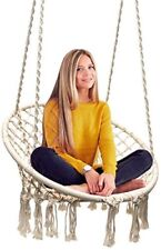 Sorbus Hammock Chair Macrame Swing, 265lbs Capacity Perfect for Indoor/Outdoor