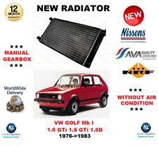 per VW GOLF MK I 1.6 GTI 1.8 1.6 D 1976-   1983 NUOVO RADIATORE ** Qualità OE **