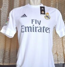 REAL MADRID Shirt Home 2015-2016 sz Small *Adult BNWT with vinyl (bag)