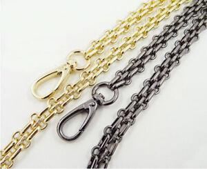Hot 20 ~ 200CM Three Rows Watch Metal Chain For Handbag Or Shoulder Strap Bag #C
