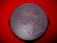 """VINTAGE """"WAPAK"""" CAST IRON SKILLET NO 9 WITH HEAT RING"""