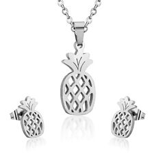 earrings stainless steel fruit pineapple Set marriage woman collar and