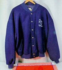 Roots Canada Wool Melton Varsity Jacket, Blue,  'Kids in the Hall' TV show  XXL