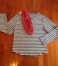 Breton Stripe Langarm Tee Shirt Bluse ähnlich Saint James Meridien