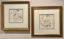 (2) GRACIELA RODO BOULANGER Lithographs Golden Embossed Hand Numbered FRAMED