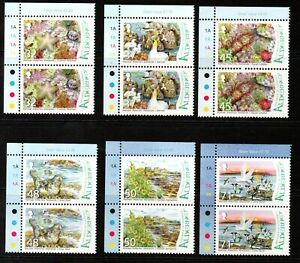 Alderney Stamps 2007 SG A309-A314 Burhou Islands and Ransar Site Pairs Mint MNH