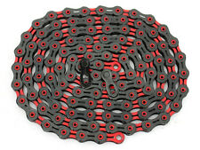 KMC X10SL DLC Bike Chain 114L Super Light Diamond Coating Black/Red