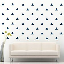 "108 of 4"" Navy Blue Triangle DIY Removable Peel Stick Wall Vinyl Decal Sticker"