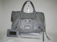 Authentic Balenciaga Shoulder Bag S/S 2011 The City Medium Gray Leather 115748