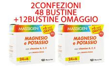 Massigen Magnesio e potassio 48 + 12 bustine in omaggio 2 confezioni