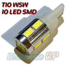 Lampada LED T10 W5W 10 SMD Alluminio 6000K Luci di posizione interno targa 0.5W