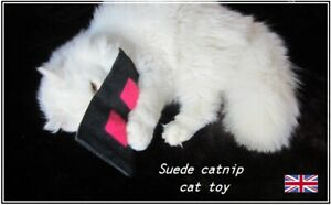 Re-fillable Leather/suede Pocket With Extra Strong Catnip. Cat Toy. UK Seller