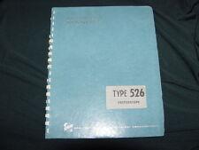 Tektronix Type 526 Vectorscope Instruction Manual-1960