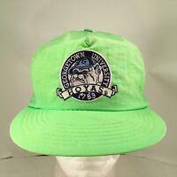 Georgetown University Hoyas Embroidered Flourescent Green Nylon Snapback Hat Cap