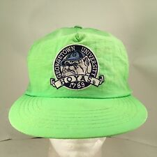 Georgetown University Hoyas Embroidered Flourescent Green Nylon Snapback Hat Cap