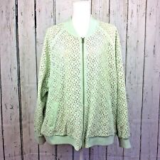 5869e0918a9 VICTORIA BECKHAM for Target Size 3X Jacket Mint Green Lace Over Tan Lining