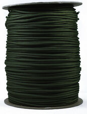 Moss and Black Stripes - 550 Paracord Rope 7 strand Cord - 1000 Foot Spool