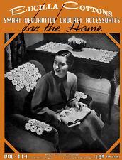 Bucilla #114 c.1937 - Smart Decorative Crochet Vintage Home Decor Patterns
