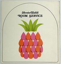 1975 Vintage Room Service Menu SHERATON WAIKIKI HOTEL Honolulu Oahu Hawaii