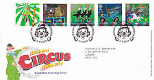 9 APRIL 2002 CIRCUS ROYAL MAIL FIRST DAY COVER CLOWNE CHESTERFIELD SHS (a)
