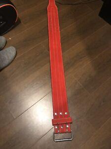 Red Weightlifters Belt